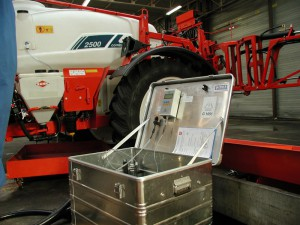 Vår pumptestutrustning ROT 1200 i ett tåligt rostfritt/alu-case. 10-1200 l/min. Digital visning upp till 10 Bar.