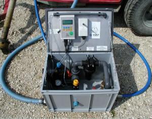ROT 650/60/40/10. 7,5-650 l/min vid 10 Bar. 7,5-300 l/min vid 40 Bar. Digital visning upp till 60 Bar. All utrustning du behöver för pumptest.